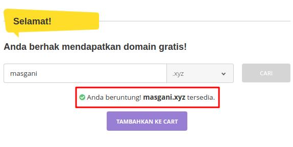 Cara mendapatkan domain gratis di hostinger.co.id