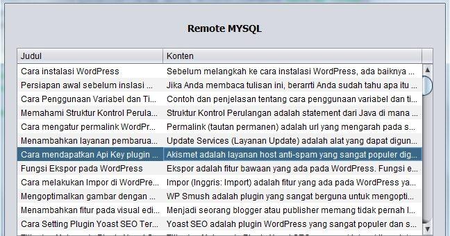 Cara Menggunakan Remote MYSQL Di cPanel