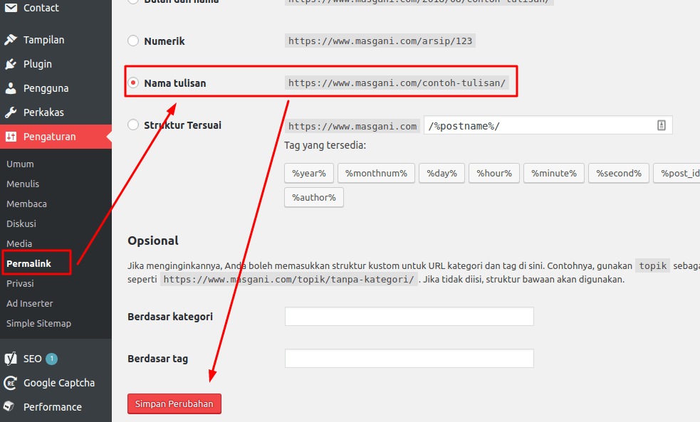 cara mengatasi page not found di wordpress