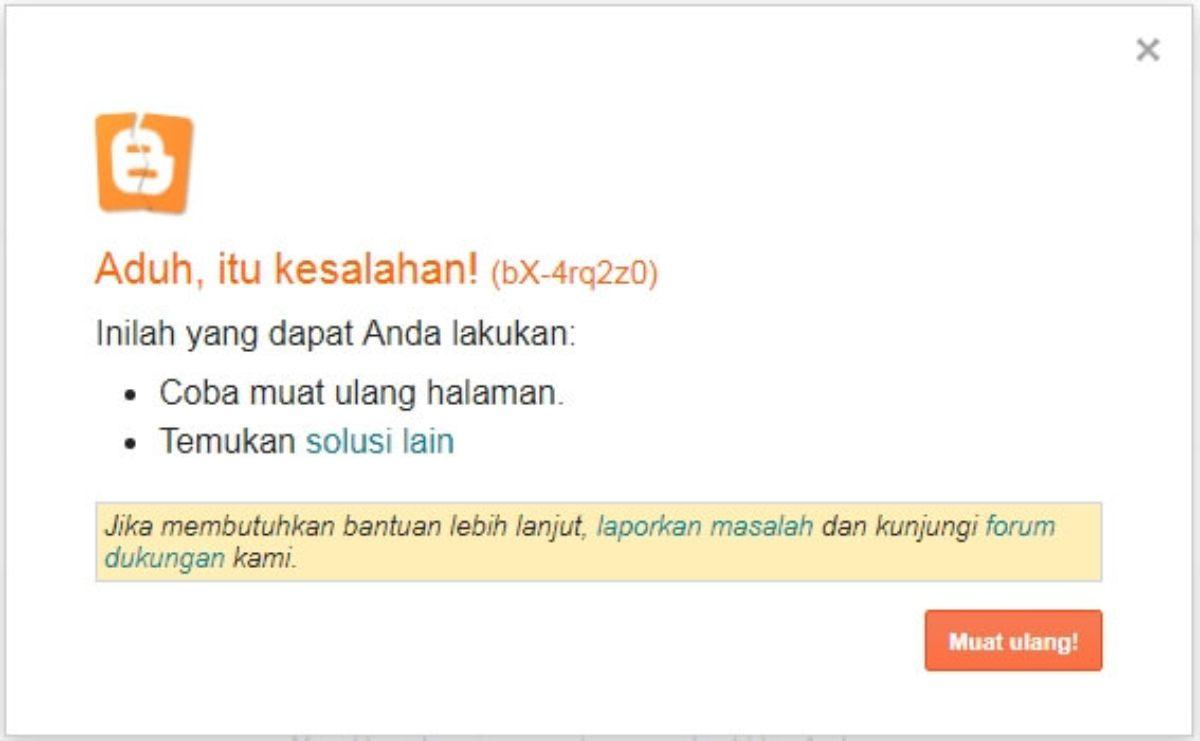 Muncul Error bX Saat Custom Domain Blogger