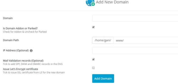 Cara Addon Domain dan Membuat Subdomain di Webuzo