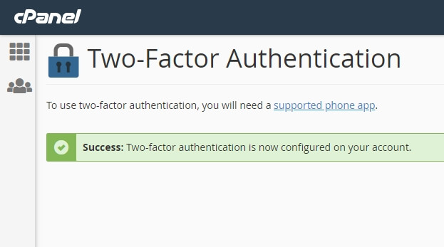 Selesai menambahkan tow factor authentication