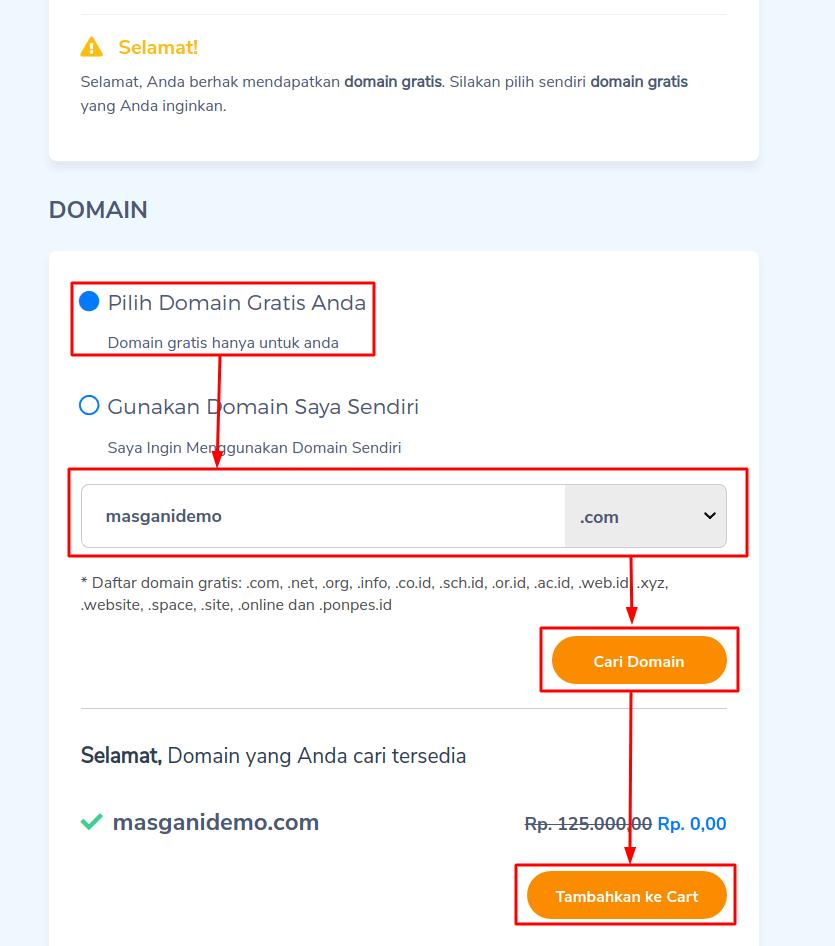 mendaftarkan domain gratis