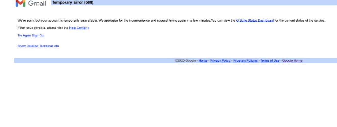 apakah google down
