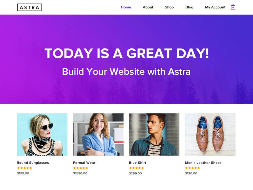 Astra tema wordpress gratis terbaik