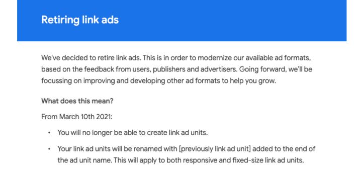 link ads dihentikan, apa y terjadi?